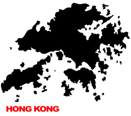 Hong Kong map high res