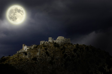 Rocca Tolfa by night