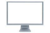 The modern and thin display on a white background poster