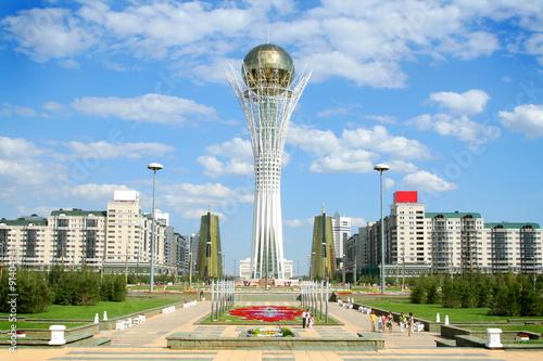 Bayterek Tower in Astana. symbol of Kazakhstan - 9140494