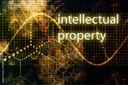 Intellectual Property Abstract Business Concept Wallpaper