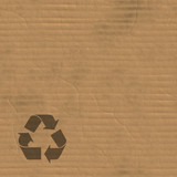 A corrugated carboard texture with creases and wrinkles. poster