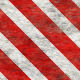 Diagonal hazard stripes texture. Weathered, worn and grungy. poster