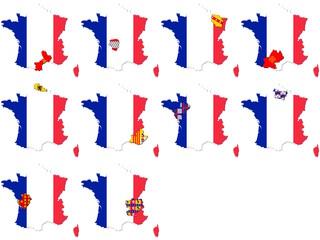 Regionen Frankreichs mit Frankreich