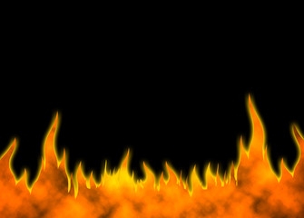 Hot fire background 05