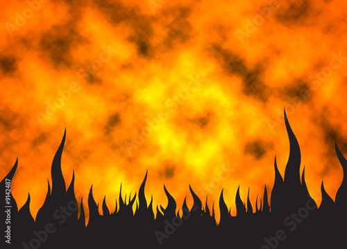 Hot fire background 03