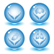 Vector medical icons. Blue set. Simply change.
