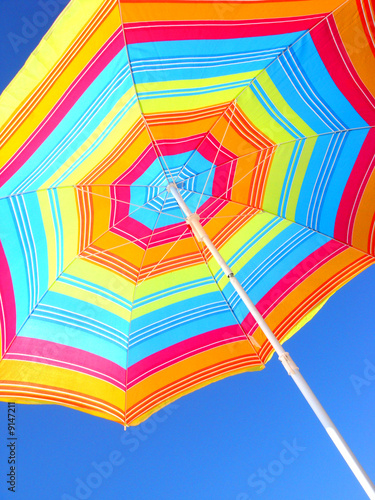 Beach umbrella in tropical beach