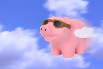 A humorous metaphor signaling when pigs fly
