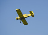 Crop-duster with old radial engine poster
