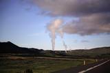 Geothermal plant Krafla Iceland. poster