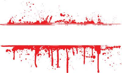 Blood splatter border