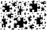 Puzzle shapes..Reflection is on separate poster