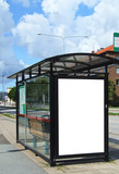 bus stop HDR poster