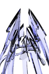 Blue Glass Arrow Peak
