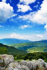 View of mountain Demerdji, Crimea, blue sky