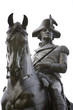 An equastrian statue of General George Washington