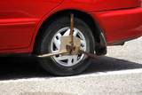 Wheel Clamp on illegally parked vehicle poster