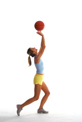 Sport girl with basket ball