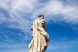 Classic Flora statue at Peterhof over fantastic sky. poster