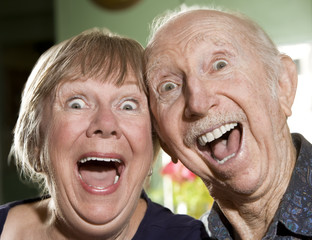 Close Up Portrait of a Senior Couple
