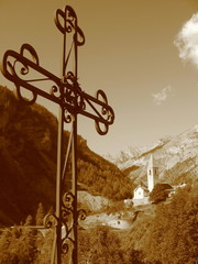 iron cross in St Dalmas le Selvage