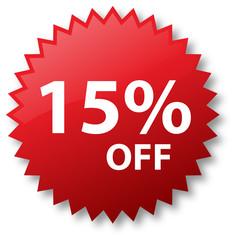 Sale - Fifteen percent