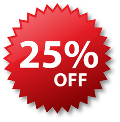 Sale - Twenty Five Percent Off