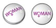 Button Word Woman/Female Gender Symbol