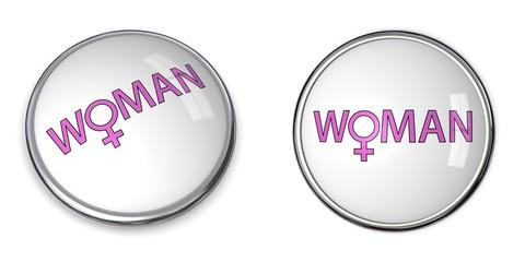Button Word Woman/Female Gender Symbol