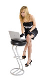 Sharp Dressed Girl And Notebook poster