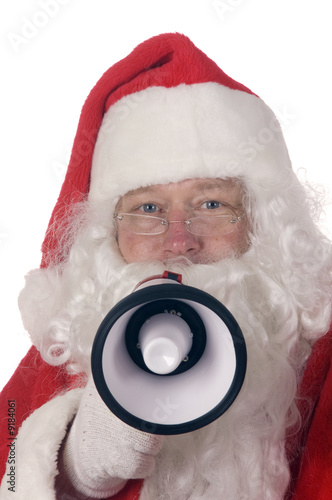 poster of Pleasant middle-aged bearded man in a santa suit