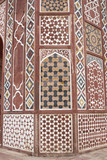 Detail of Islamic Tomb at Sikandra, Agra, India poster