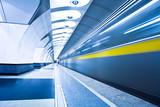 Fototapeta Tłum - Czekać - Stacja Kolejowa