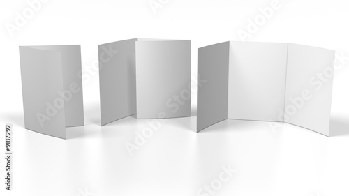 flyer blank on white background