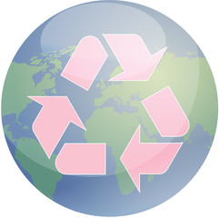 Recycling eco symbol illustration