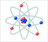 atom vector illustration poster