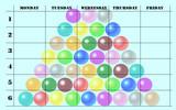 school scheduler with balls poster