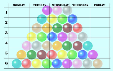 school scheduler with balls