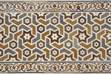 Detail of Inlaid Marble on Islamic Tomb at Agra, India poster