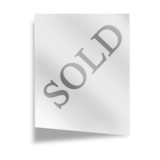 memo on a white background with sold on it poster