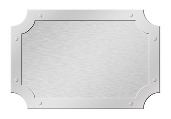 Brushed silver tablet  isolated on white with clipping path