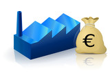 Usine et son budget en Euro (reflet) poster