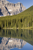 Lake Moraine in August in Banff National Park Canada poster