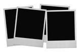 four photo frames on white, minimal shadow behind poster