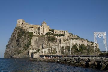Italy. Campania. Ischia Island. Fortress Castello Aragonese.