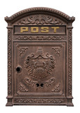 Antique postbox poster
