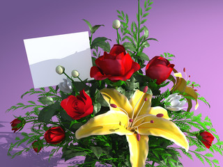 Roses and empty card