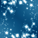 glittering stars on a soft blue background poster