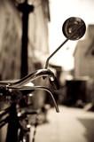 Old bicycle handlebar detail poster